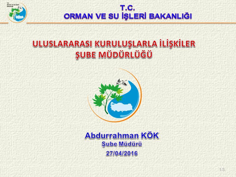 12/8 I.Dünya Sulama Forumu, 29 Eylül-5 Ekim 2013 tarihlerinde Mardin'de gerçekleştirilmiştir.