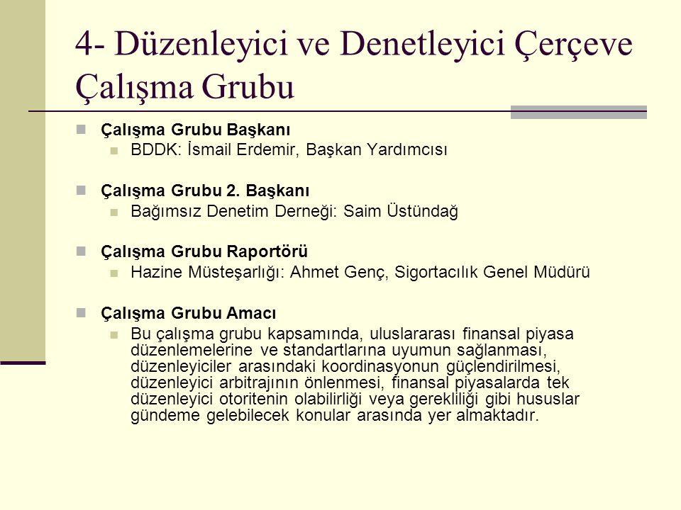 5- Altyapı Çalışma Grubu Çalışma Grubu Başkanı İstanbul Valiliği: M.
