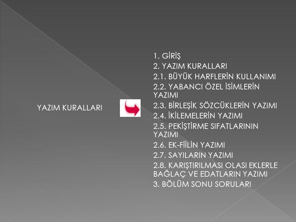 2.6.EK FİİLİN YAZIMI 2.6.1.