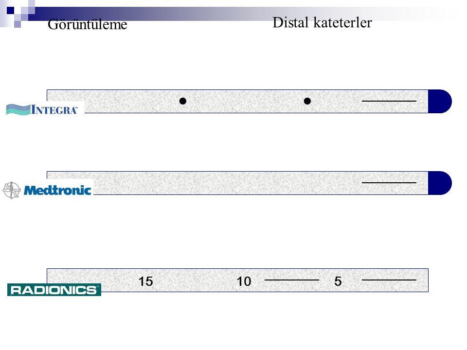 15 10 5 Görüntüleme Distal kateterler ●●