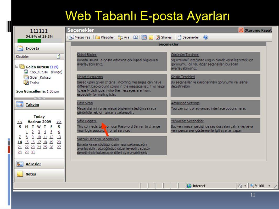 11 Web Tabanlı E-posta Ayarları