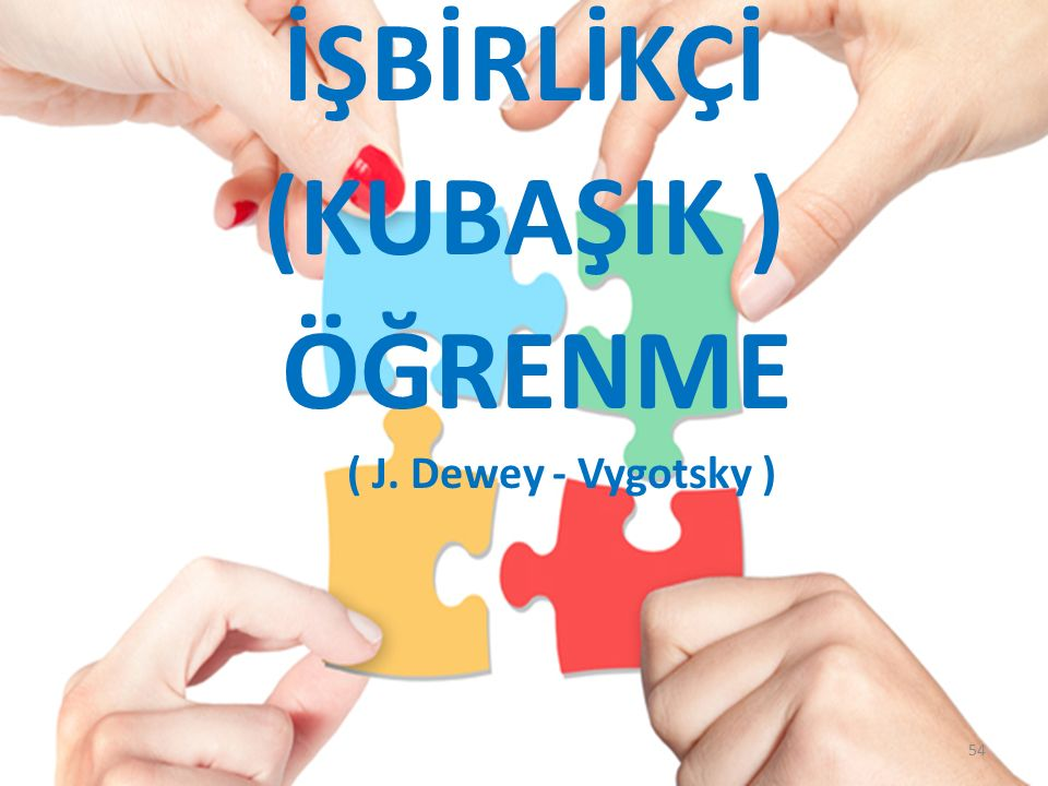 İŞBİRLİKÇİ (KUBAŞIK ) ÖĞRENME ( J. Dewey - Vygotsky ) 54