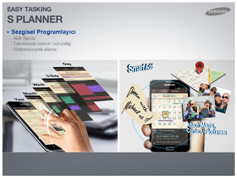  Sezgisel Programlayıcı - Akıllı Ajanda - Takviminizde zoom in / out özelliği - Multimedya içerik ekleme