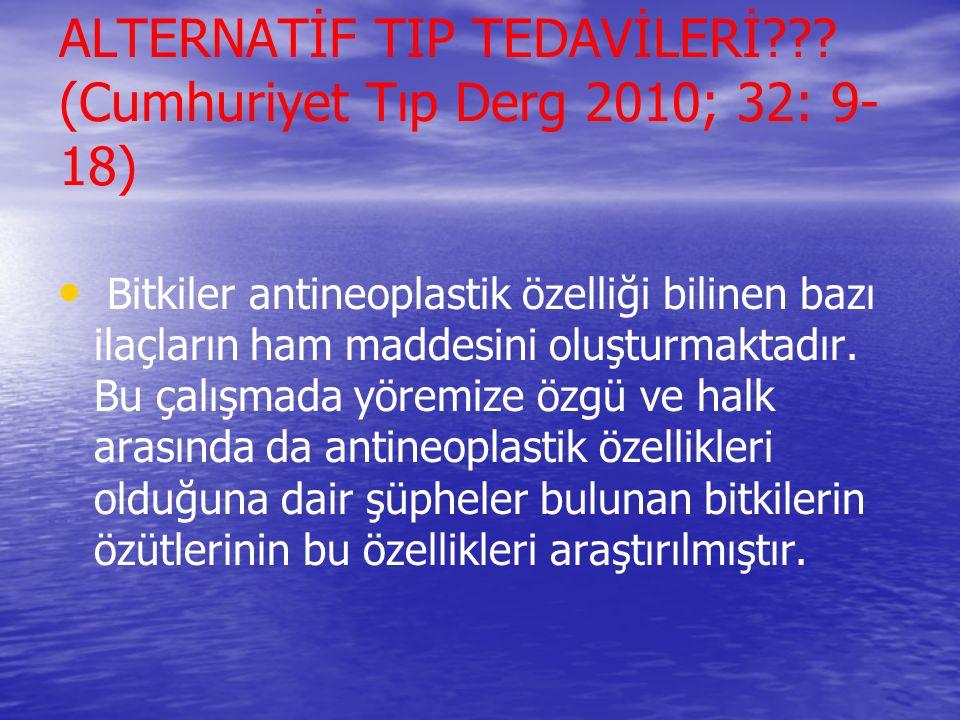 ALTERNATİF TIP TEDAVİLERİ??.