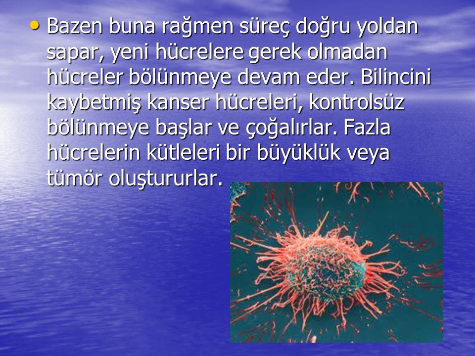Kanser hücrelerinin büyüme sebebi DNA hasarı ve hücre mitozunu kontrol eden hücre genlerinin mutasyonu veya anormal aktivasyonudur.
