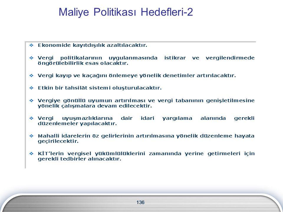 136 Maliye Politikası Hedefleri-2 136