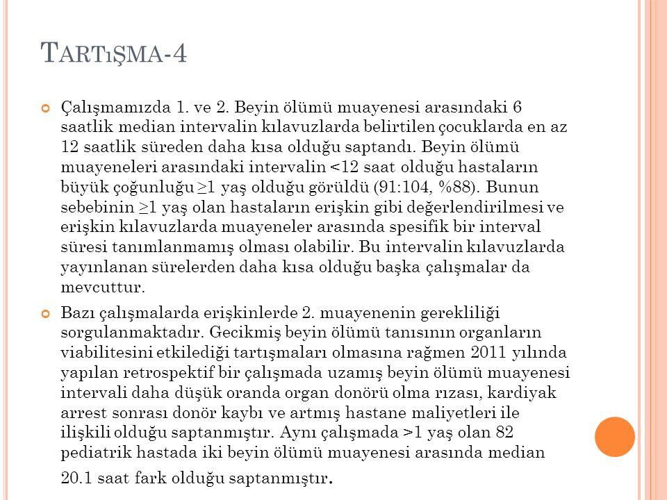 T ARTıŞMA -4 Çalışmamızda 1. ve 2.