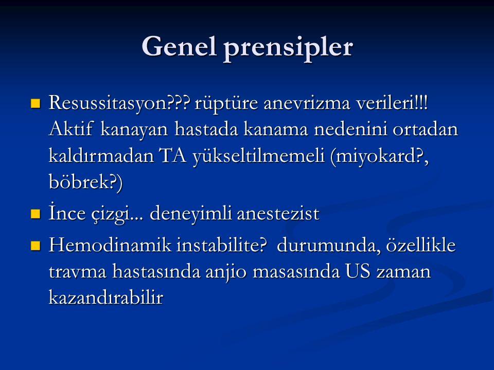 Genel prensipler Resussitasyon . rüptüre anevrizma verileri!!.