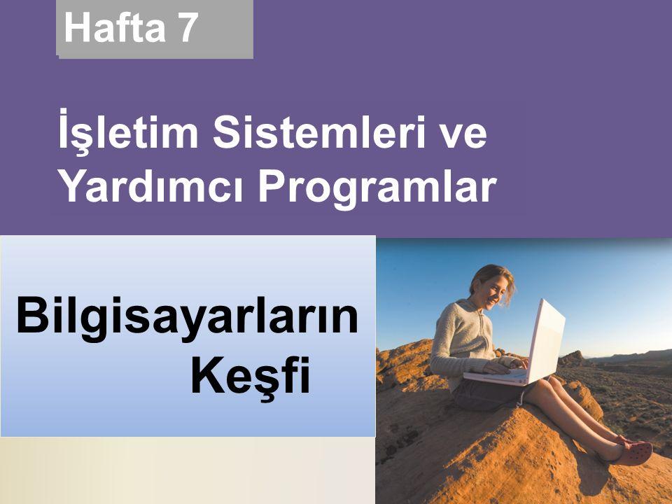 Living in a Digital World Discovering Computers 2010 Hafta 7 İşletim Sistemleri ve Yardımcı Programlar Bilgisayarların Keşfi