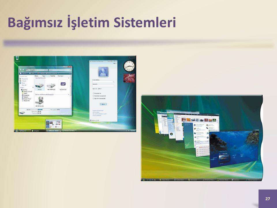 Bağımsız İşletim Sistemleri 27