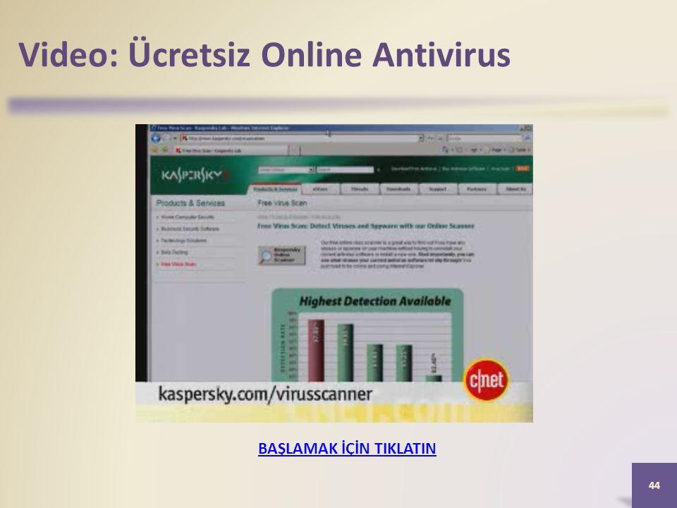 Video: Ücretsiz Online Antivirus 44 BAŞLAMAK İÇİN TIKLATIN