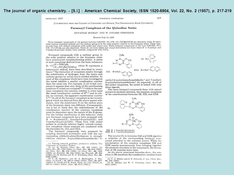 Selenyumdioksid ile yaptığı oksidasyon çalışmaları ve flor kimyasına katkıları kimya ansiklopedilerine girmiştir.