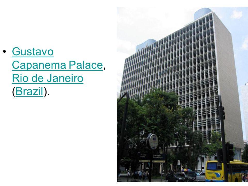 Gustavo Capanema Palace, Rio de Janeiro (Brazil).Gustavo Capanema Palace Rio de JaneiroBrazil