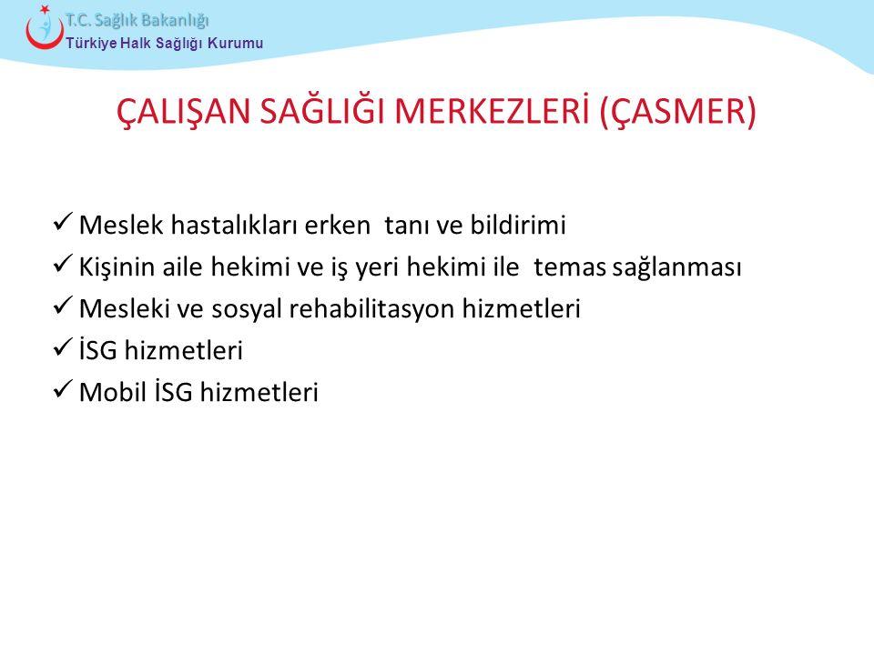 Çocuk ve Ergen Sağlığı Daire Başkanlığı Türkiye Halk Sağlığı Kurumu T.C. Sağlık Bakanlığı ÇALIŞAN SAĞLIĞI MERKEZLERİ (ÇASMER) Meslek hastalıkları erke