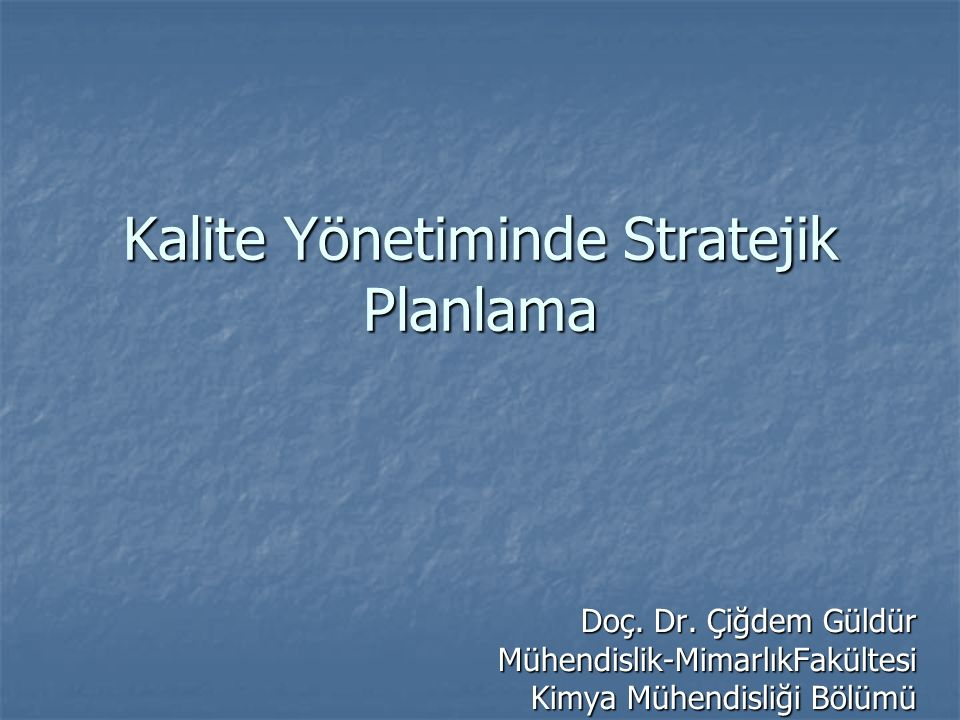 Hedefler stratejik plan sürecinin nerede olmayı istiyoruz kısmını oluşturur.