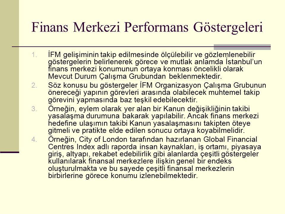 Finans Merkezi Performans Göstergeleri 1.