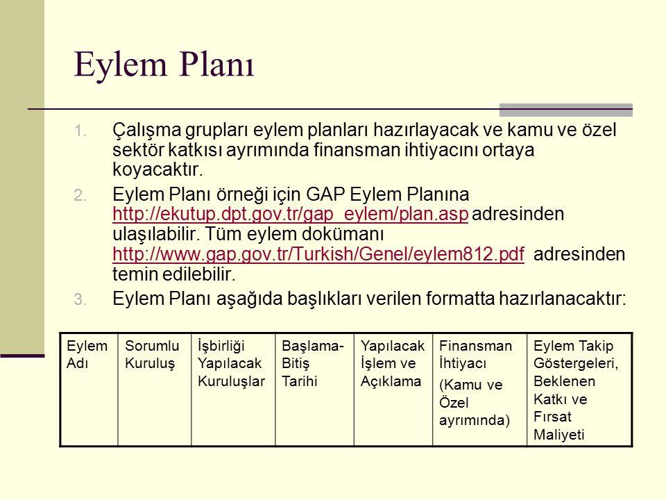 Eylem Planı 1.