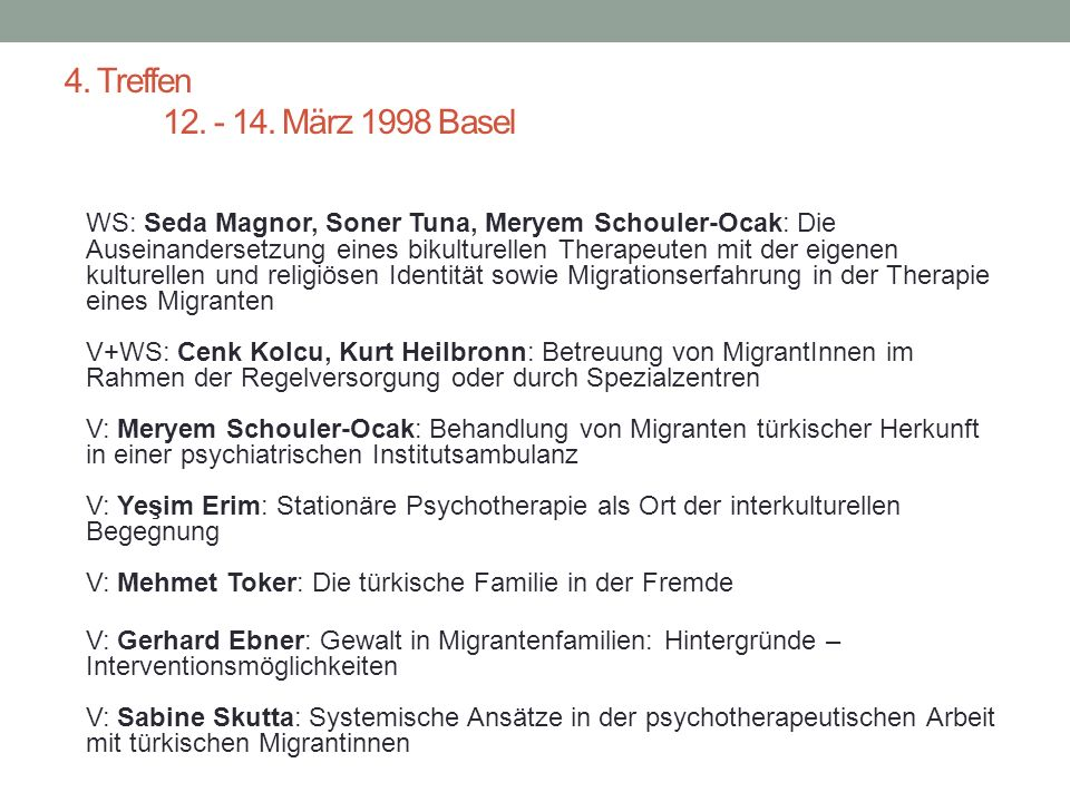 Transkulturelle Psychiatrie Herausforderung in Diagnostik und Therapie Transcultural Psychiatry Challenges for Diagnosis and Treatment Kongress vom 12.-14.