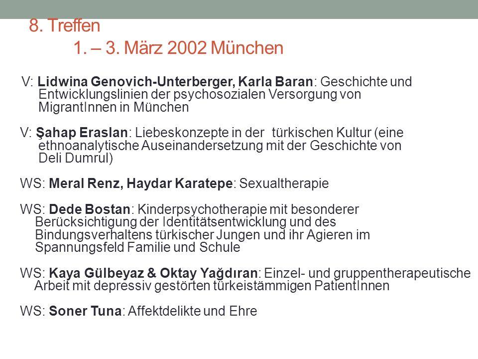 7. Treffen 16. – 18. März 2001 Frankfurt V: Annemarie Vogt: Eigene transkulturelle Erfahrungen.