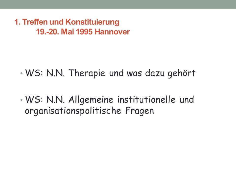 1.Treffen und Konstituierung 19.-20. Mai 1995 Hannover WS: N.N.