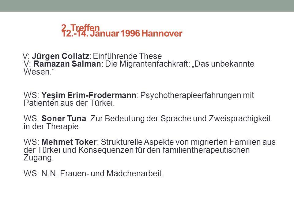 1. Treffen und Konstituierung 19.-20. Mai 1995 Hannover WS: N.N.