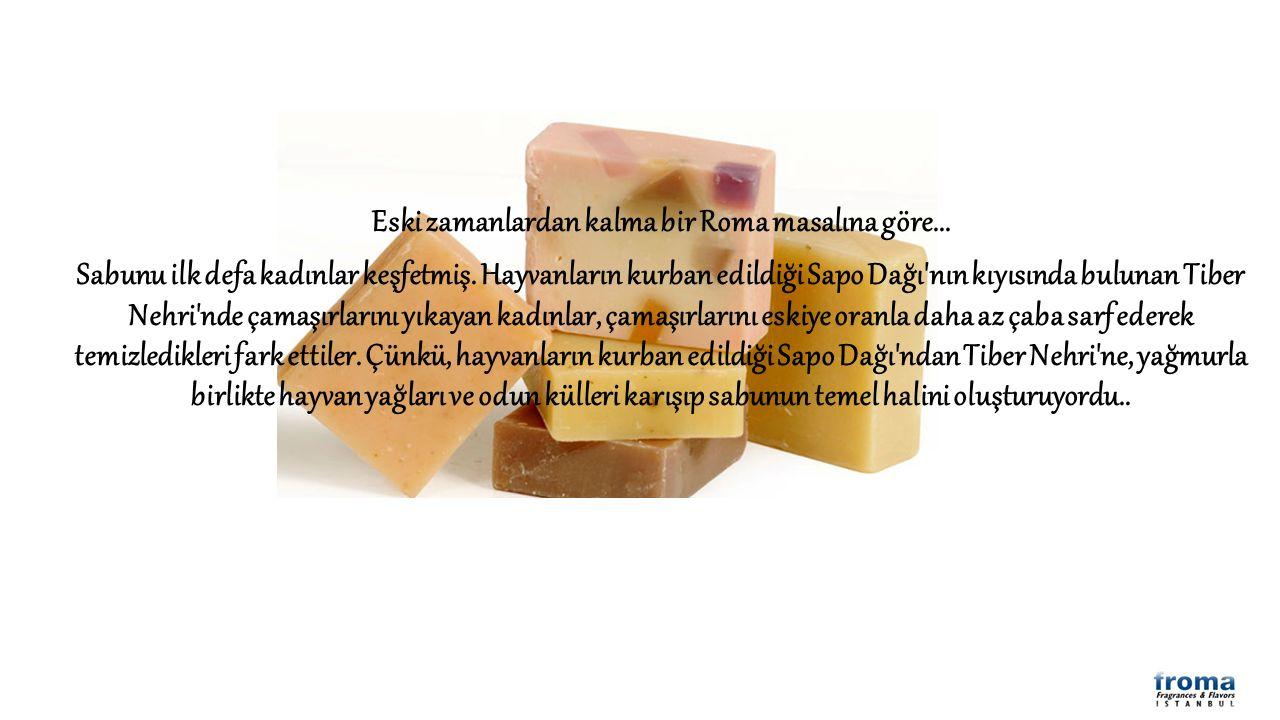 Sabun temel olarak, zeytinyağı, prina yağı,ay çiçek yağı, yerfıstığı yağı, palmiye özü yağı, iç yağı gibi maddelerden elde edilen yağ asitleri ile sodyum tuzlarının tepkimesinden oluşmaktadır.