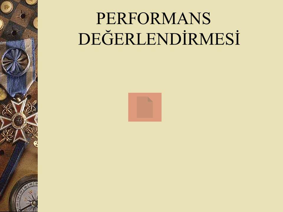 PERFORMANS DEĞERLENDİRMESİ