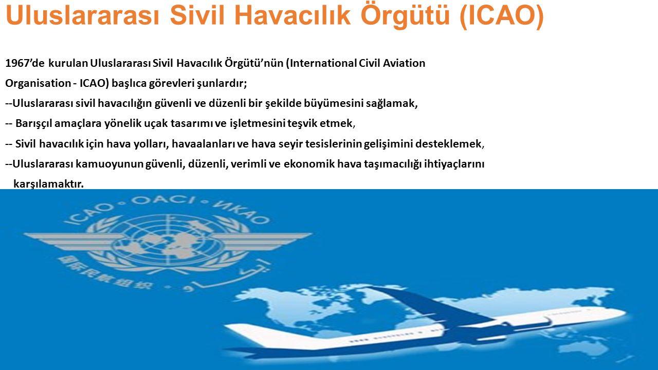 Uluslararası Sivil Havacılık Örgütü (ICAO) 1967'de kurulan Uluslararası Sivil Havacılık Örgütü'nün (International Civil Aviation Organisation - ICAO)