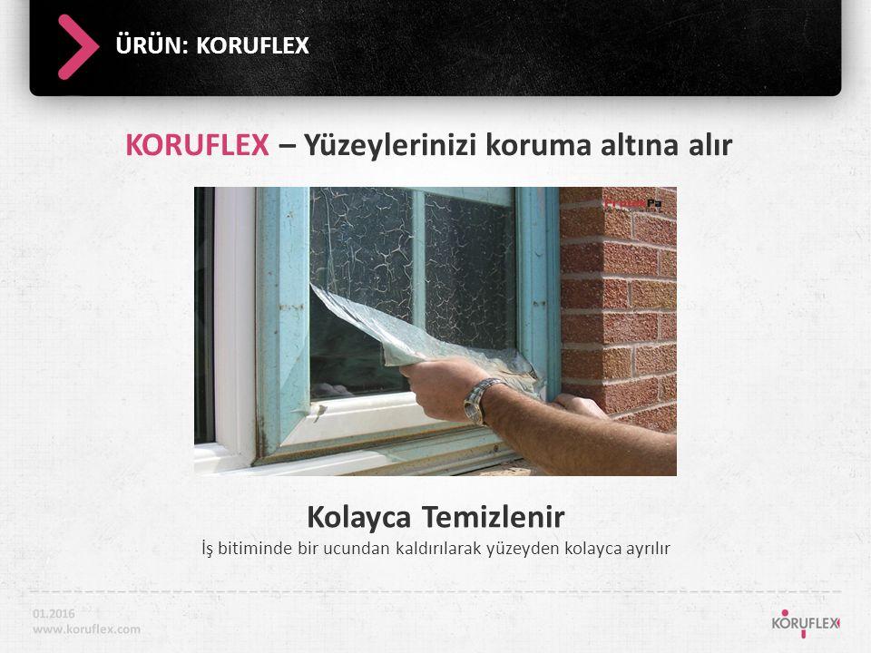 ÜRÜN: KORUFLEX Yüzey koruma altındadır KORUFLEX yüzeylerinizi koruma altına alır.