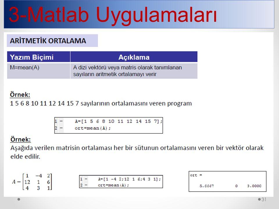 3-Matlab Uygulamaları 31