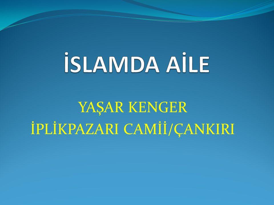 YAŞAR KENGER İPLİKPAZARI CAMİİ/ÇANKIRI