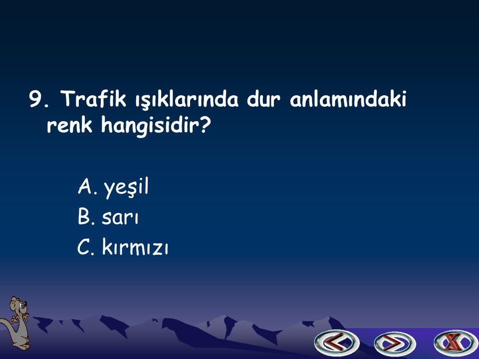 8. Bir sınavda ehliyet almaya hak kazanan biri hangi taşıtı kullanabilir.
