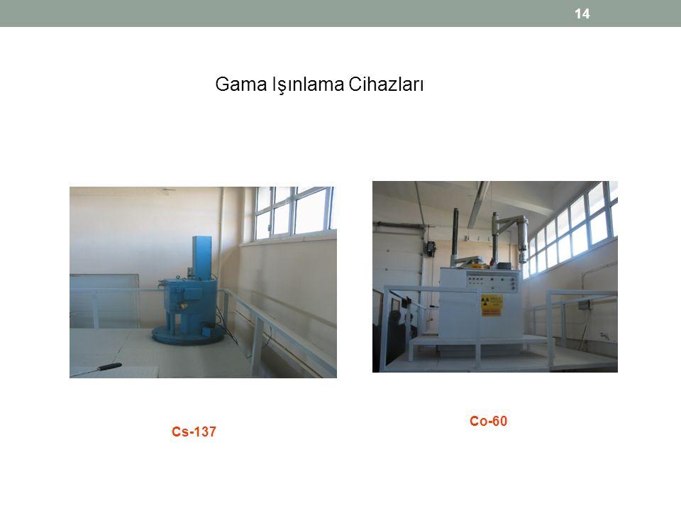 14 Gama Işınlama Cihazları Cs-137 Co-60