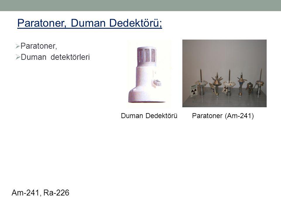  Paratoner,  Duman detektörleri Duman Dedektörü Paratoner, Duman Dedektörü; Am-241, Ra-226 Paratoner (Am-241)