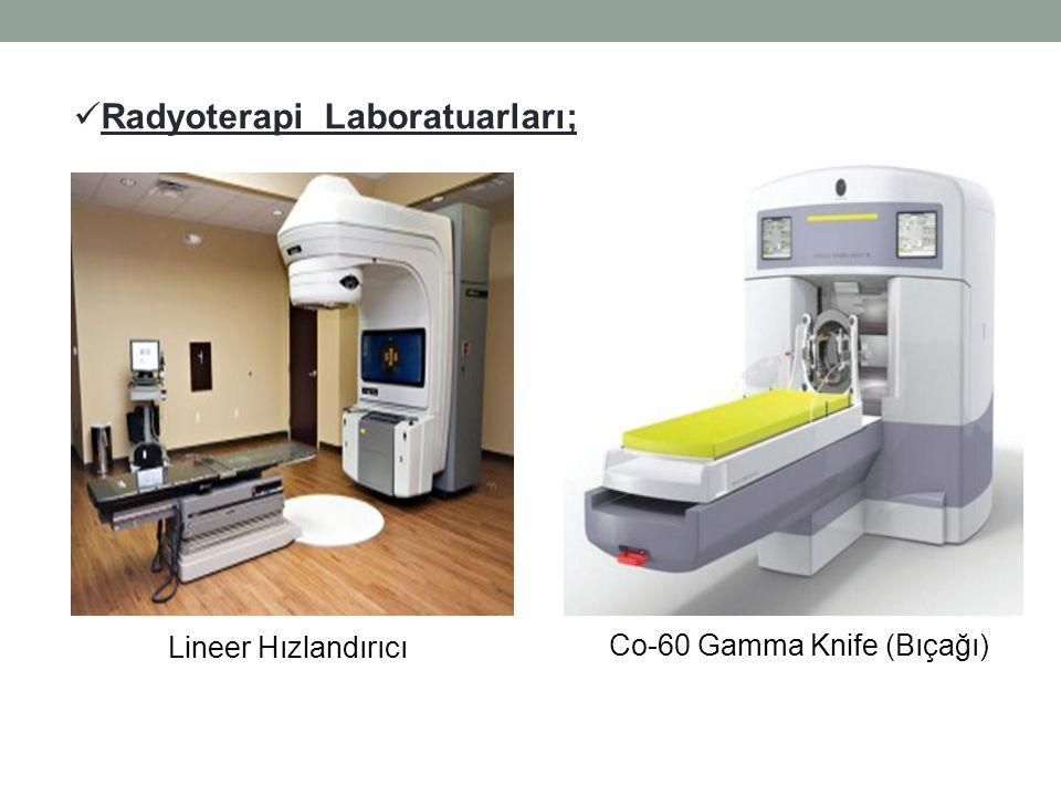 Lineer Hızlandırıcı Co-60 Gamma Knife (Bıçağı) Radyoterapi Laboratuarları;