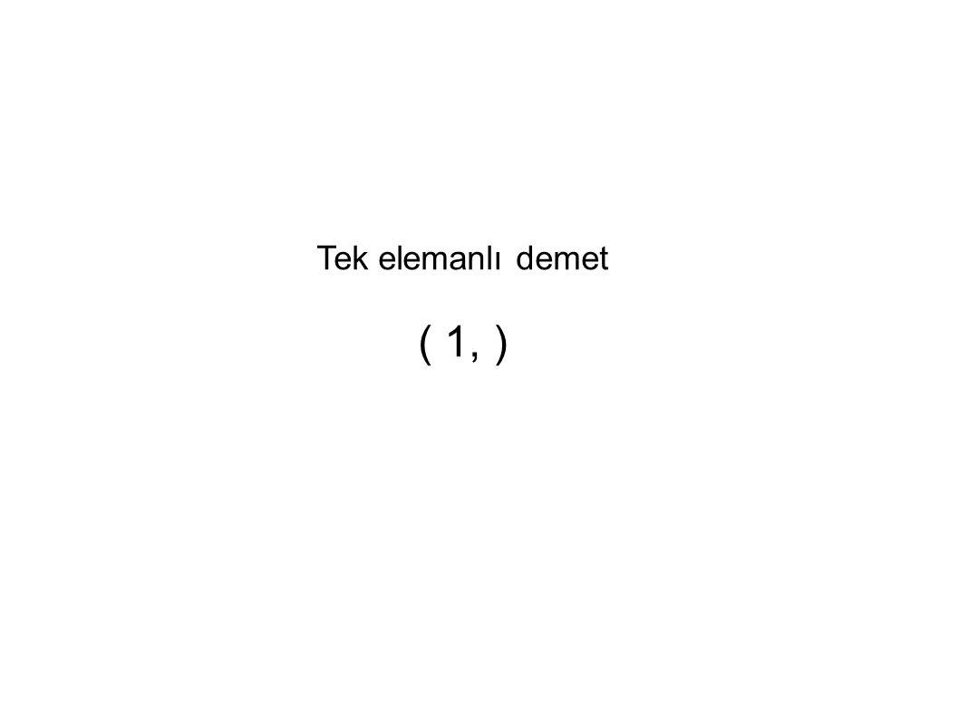 Tek elemanlı demet ( 1, )