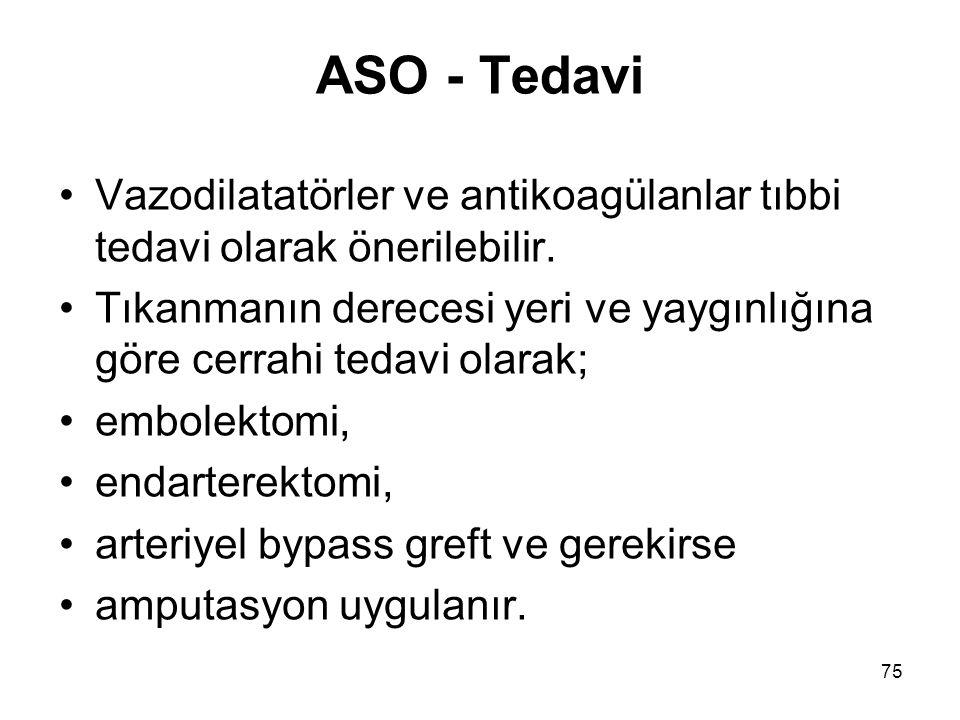 75 ASO - Tedavi Vazodilatatörler ve antikoagülanlar tıbbi tedavi olarak önerilebilir.