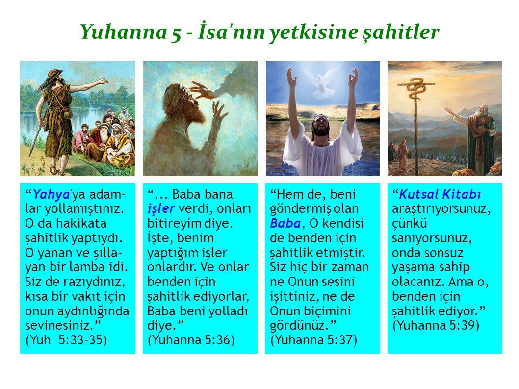 """""""Yahya'ya adam- lar yollamıştınız. O da hakikata şahitlik yaptıydı. O yanan ve şılla- yan bir lamba idi. Siz de razıydınız, kısa bir vakıt için onun a"""