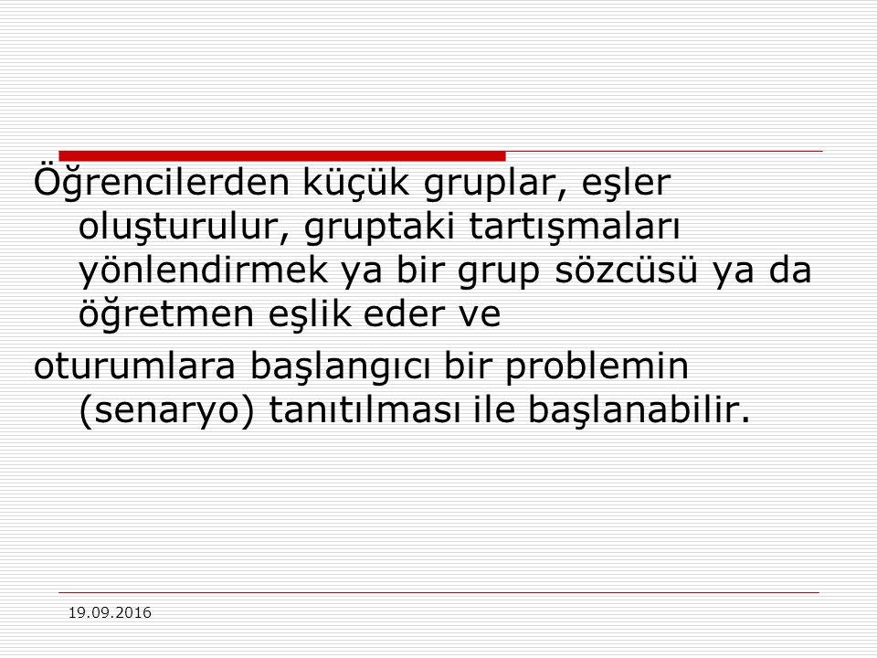 19.09.2016 PDÖ Uygulaması  Problemi çözmek için edinilmesi gereken bilgilerin tanımlanması Problem hakkında ne biliyorum.