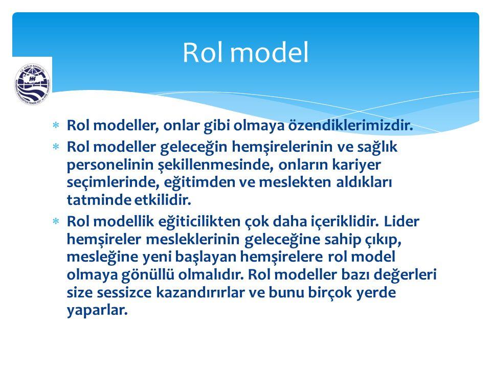  Rol modeller, onlar gibi olmaya özendiklerimizdir.