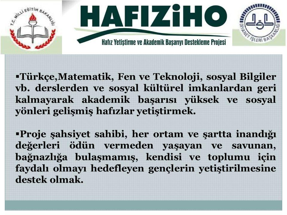  Türkçe,Matematik, Fen ve Teknoloji, sosyal Bilgiler vb.