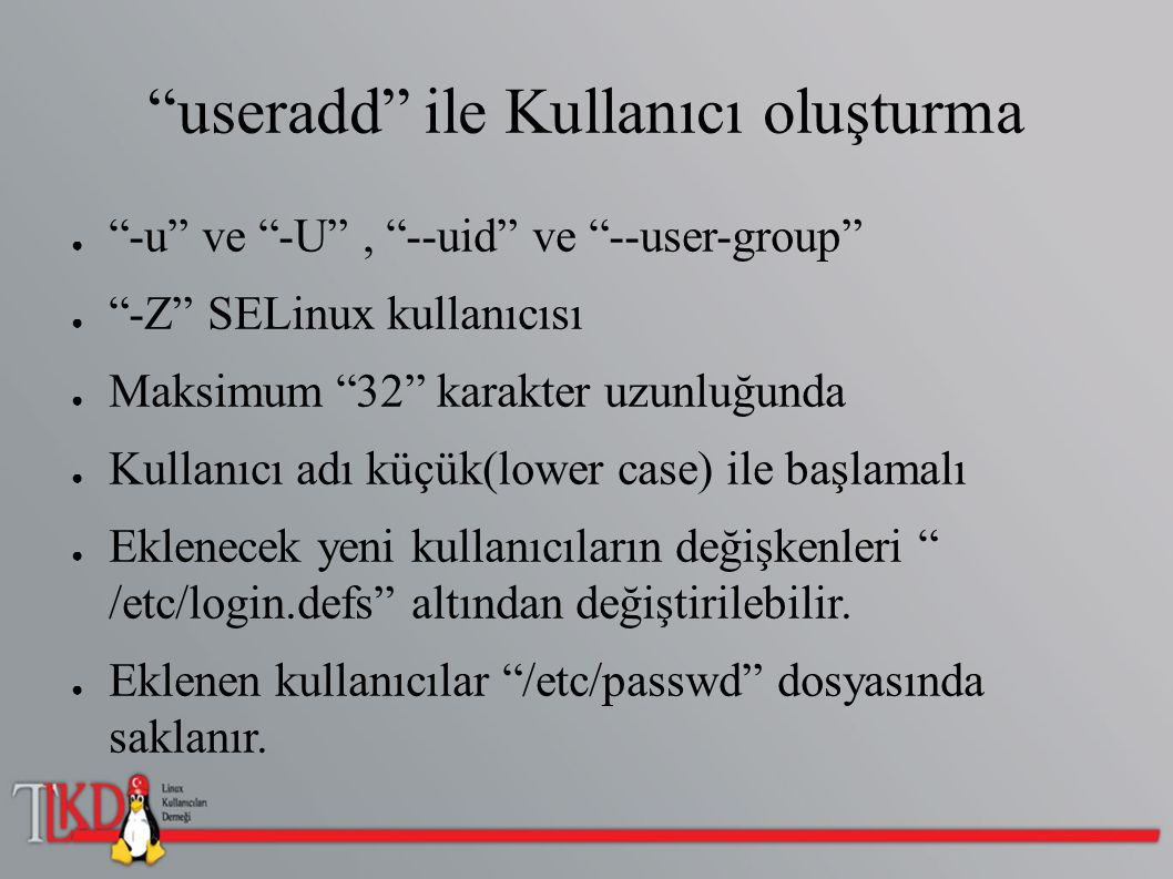 Kullanıcıları ve Süreçleri Takip Etme ● Pstree (-p) ● Ps -aux ● Top ● Kill ● Kilall ● Kill -9 ● Kill -HUP