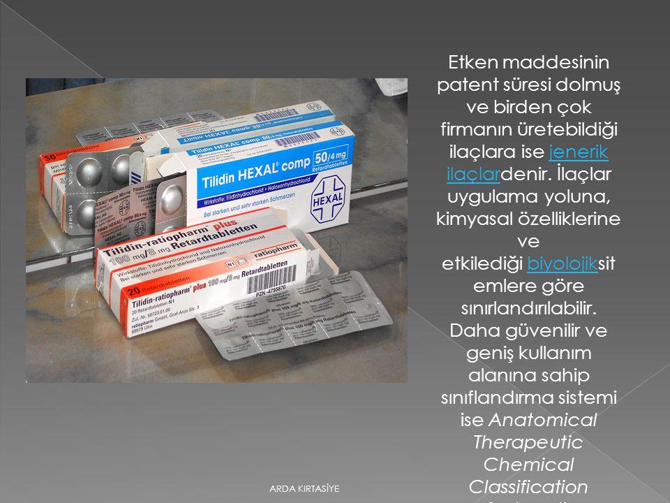 Orjinal İlaç Uzun araştırmalar ve klinik çalışmaları sonucu belli bir hastalık üzerinde olumlu etki yaptığı kanıtlanmış, temeli patentli bir moleküle dayanan ve daha önceden benzeri olmayan yeni ilaçlar için kullanılan bir uluslararası terimdir.
