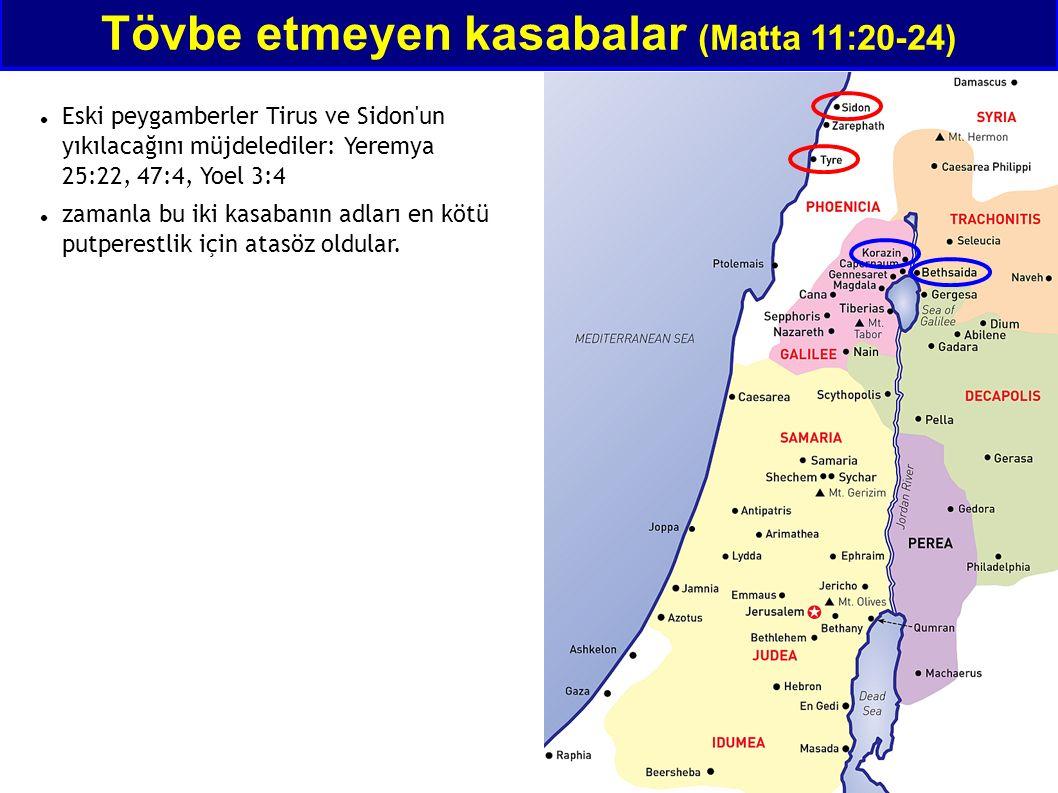 Eski peygamberler Tirus ve Sidon'un yıkılacağını müjdelediler: Yeremya 25:22, 47:4, Yoel 3:4 zamanla bu iki kasabanın adları en kötü putperestlik için