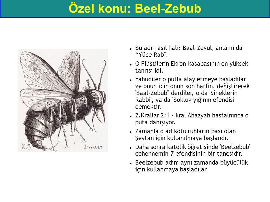"""Özel konu: Beel-Zebub Bu adın asıl hali: Baal-Zevul, anlamı da """"Yüce Rab"""