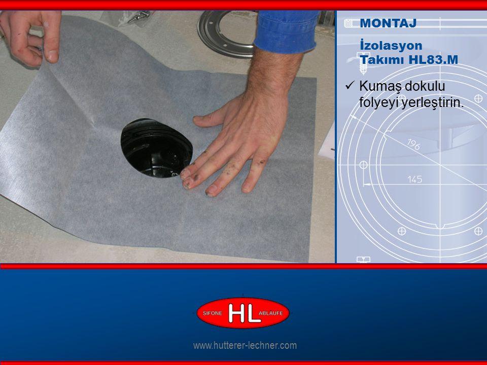 www.hutterer-lechner.com Paslanmaz çelik yüzüğünü folyenin üstüne yerleştirin.