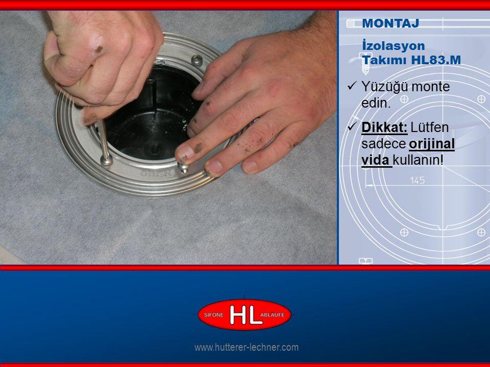 www.hutterer-lechner.com Yüzüğü monte edin. Dikkat: Lütfen sadece orijinal vida kullanın.