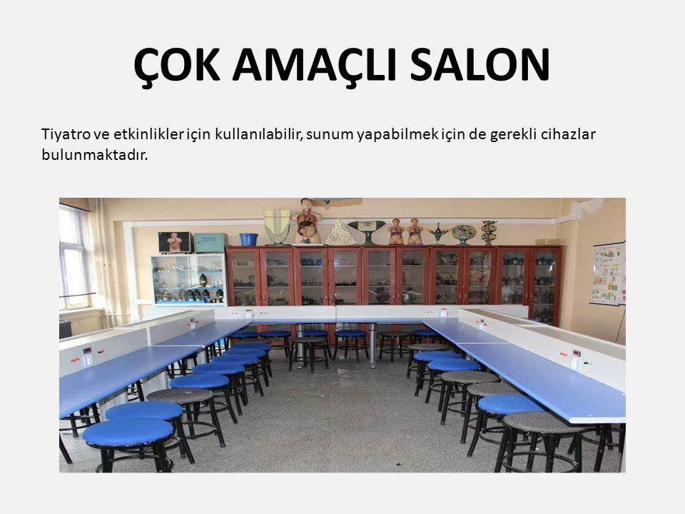 KONFERANS SALONU Tepegöz ve perdesi olan konferans salonumuz bulunmaktadır.