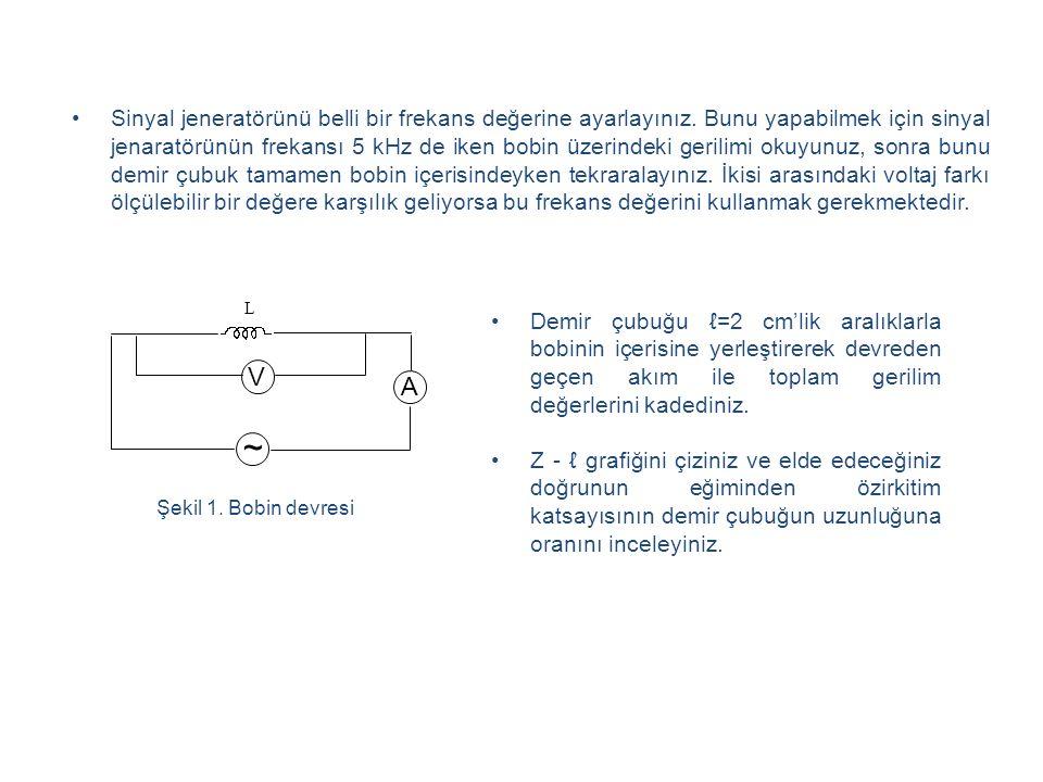 Sinyal jeneratörünü belli bir frekans değerine ayarlayınız.