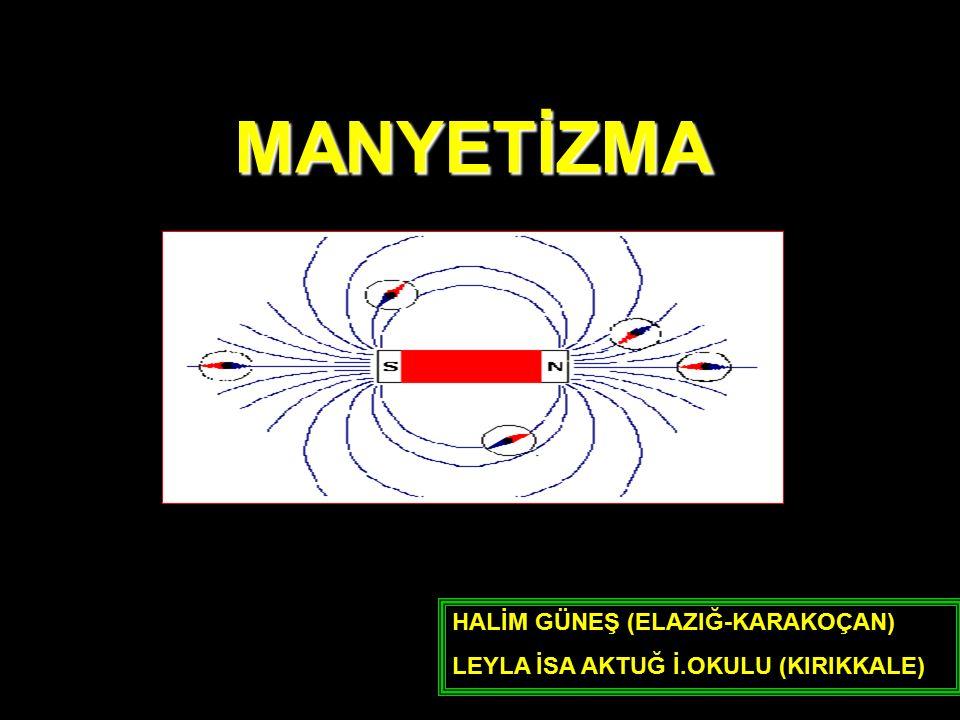 MIKNATISIN ÇEKME VE İTME KUVVETLERİ İki mıknatıs birbirine yeterince yaklaştırıldığında aralarında çekme ve itme şeklinde bir kuvvet oluşur.